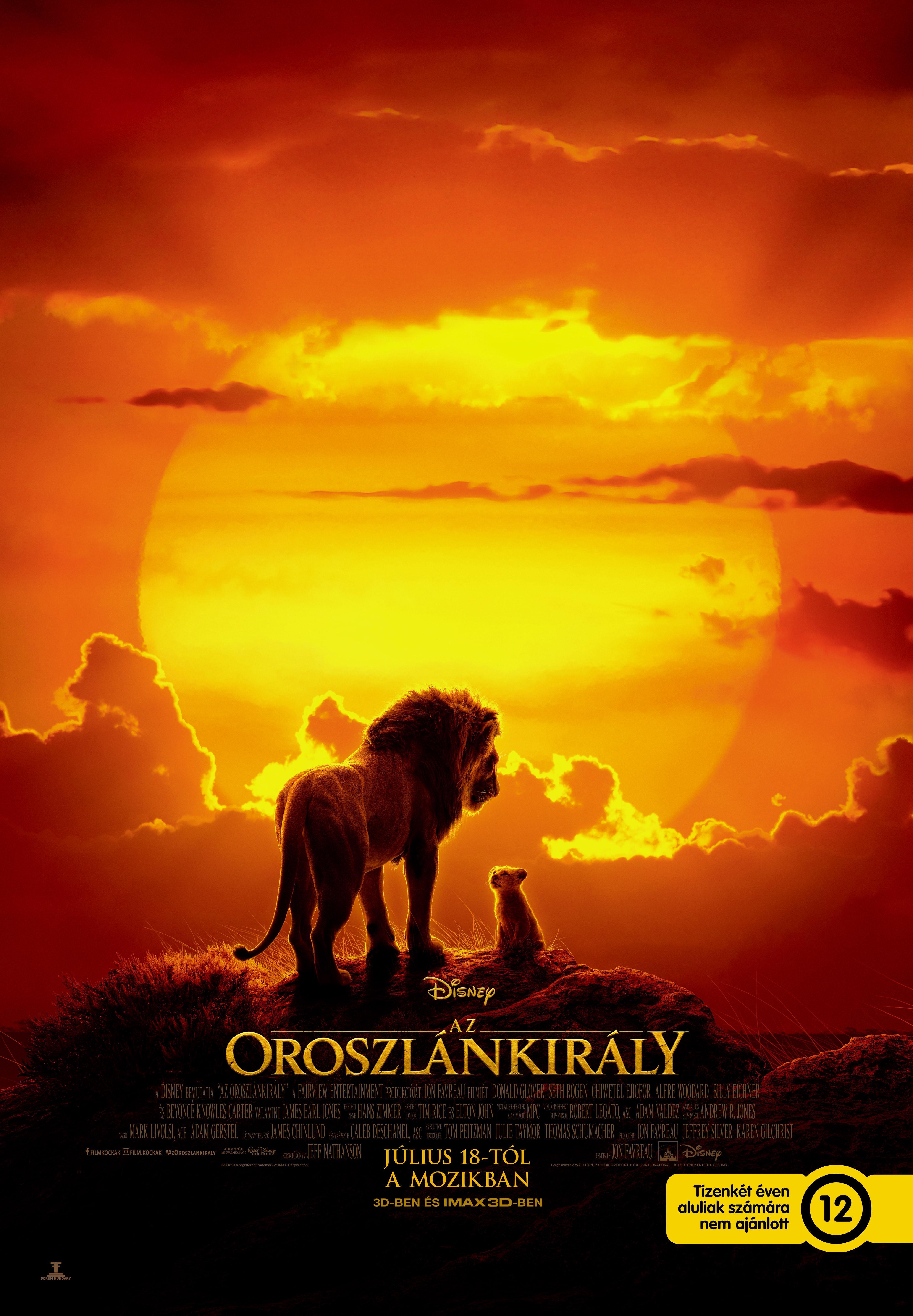 Az oroszlánkirály /The Lion King/ 2019.